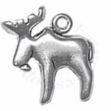 3D Small Moose With Antlers Charm