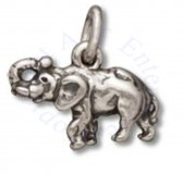 3D Small Tusked Elephant With Raised Trunk Charm