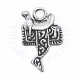 Small Horse Riding Saddle Charm