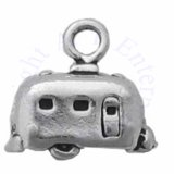 Sterling Silver 3D Small Travel Trailer Charm
