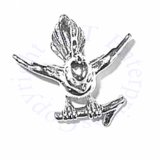 3D Perched Sparrow Bird On Branch Charm