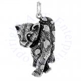 Walking Spotted Panther Or Leopard Charm