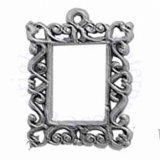 Ornate Square Picture Frame 3D Charm