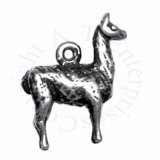 Sterling Silver 3D Standing Llama Charm