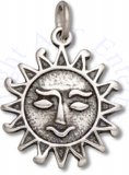 Tribal Sun With Smiley Face Charm