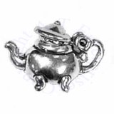 Teapot With Moveable Lid 3D Charm