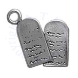 3D Ten Commandments Stone Tablets Charm