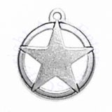 Star Of Texas In Circle Charm