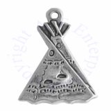 Thin Native American Indian Tent Teepee Tepee Tipi Charm