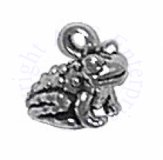 Tiny Sitting Frog 3D Charm