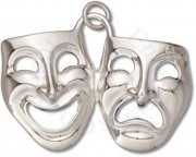 3D Comedy And Tragedy Theater Actor Mask Charm
