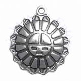 Tribal Aztec Mexican Sun With Face Charm