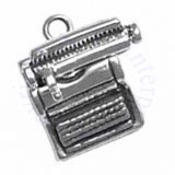 3D Mechanical Desktop Typewriter Charm With Moveable Platen Carriage