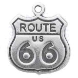 US Route 66 Sign Charm