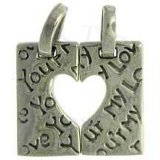 Square YOUR MY LOVE Puzzle Pieces Heart Charm