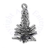 Sterling Silver 3D Yucca Desert Plant Charm