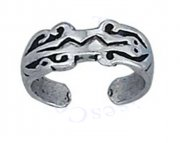 Cave Drawing Reptile Lizard Toe Ring For Petite Toes