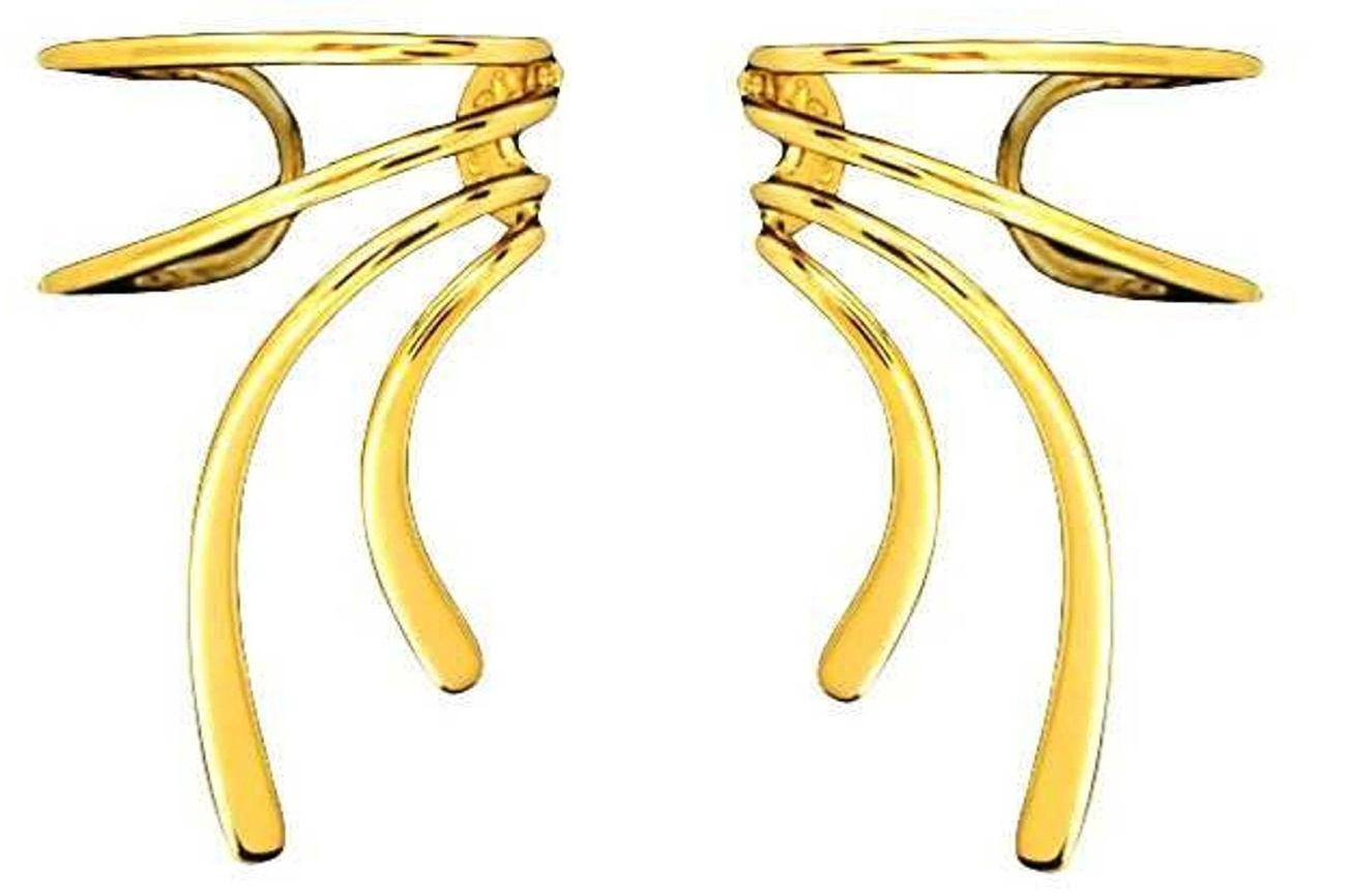 Gold Vermeil Short Wave Ear Cuff Set