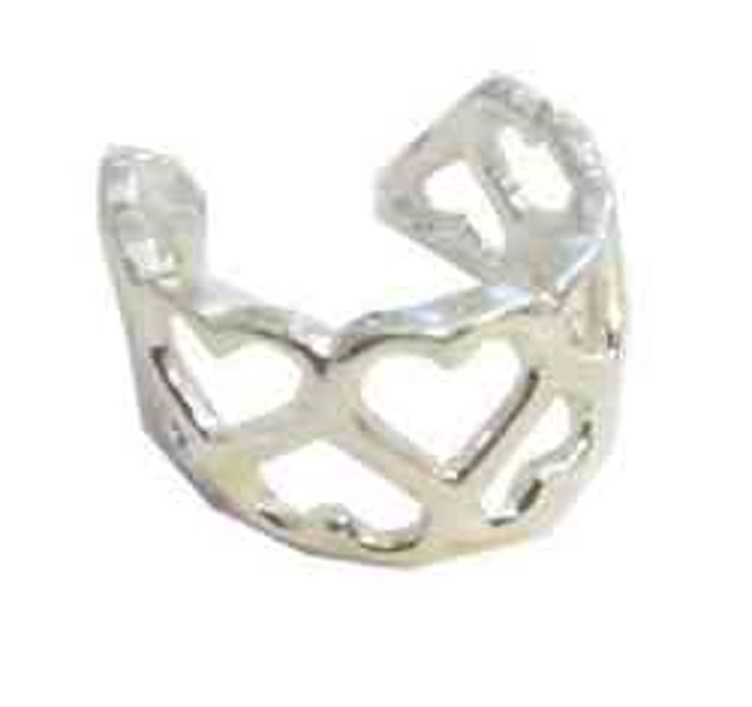 Left Or Right Nonpiercing Heart Pattern Middle Inner Ear Cuff