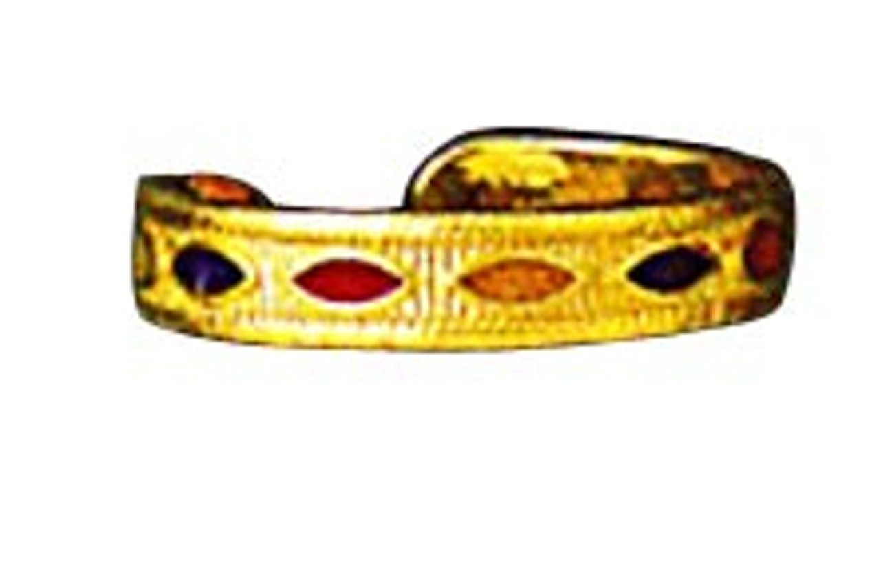 Enameled Ovals 14k Yellow Gold Thin Band Toe Ring