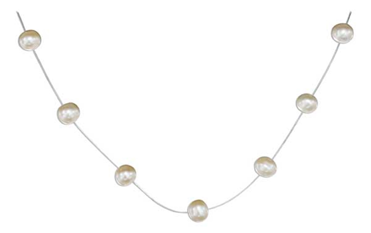 Freshwater Pearl Illusion Choker Necklace