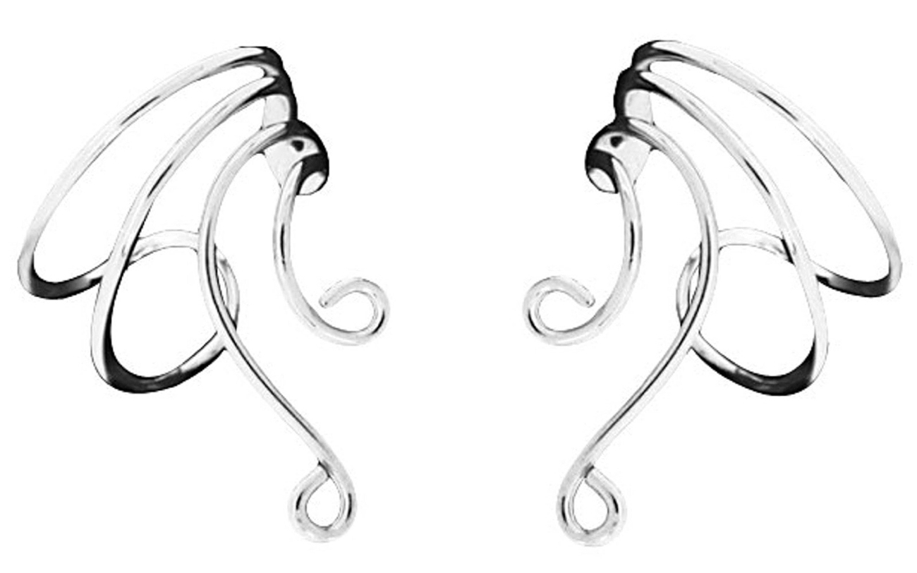 Left And Right Short Wire Extension Middle Ear Cuff Attachable Loops