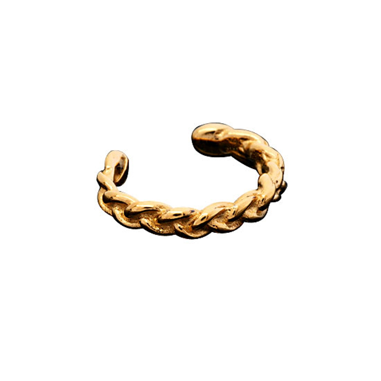 Gold Vermeil Left Or Right Small Braided Band Outer Ear Cuff