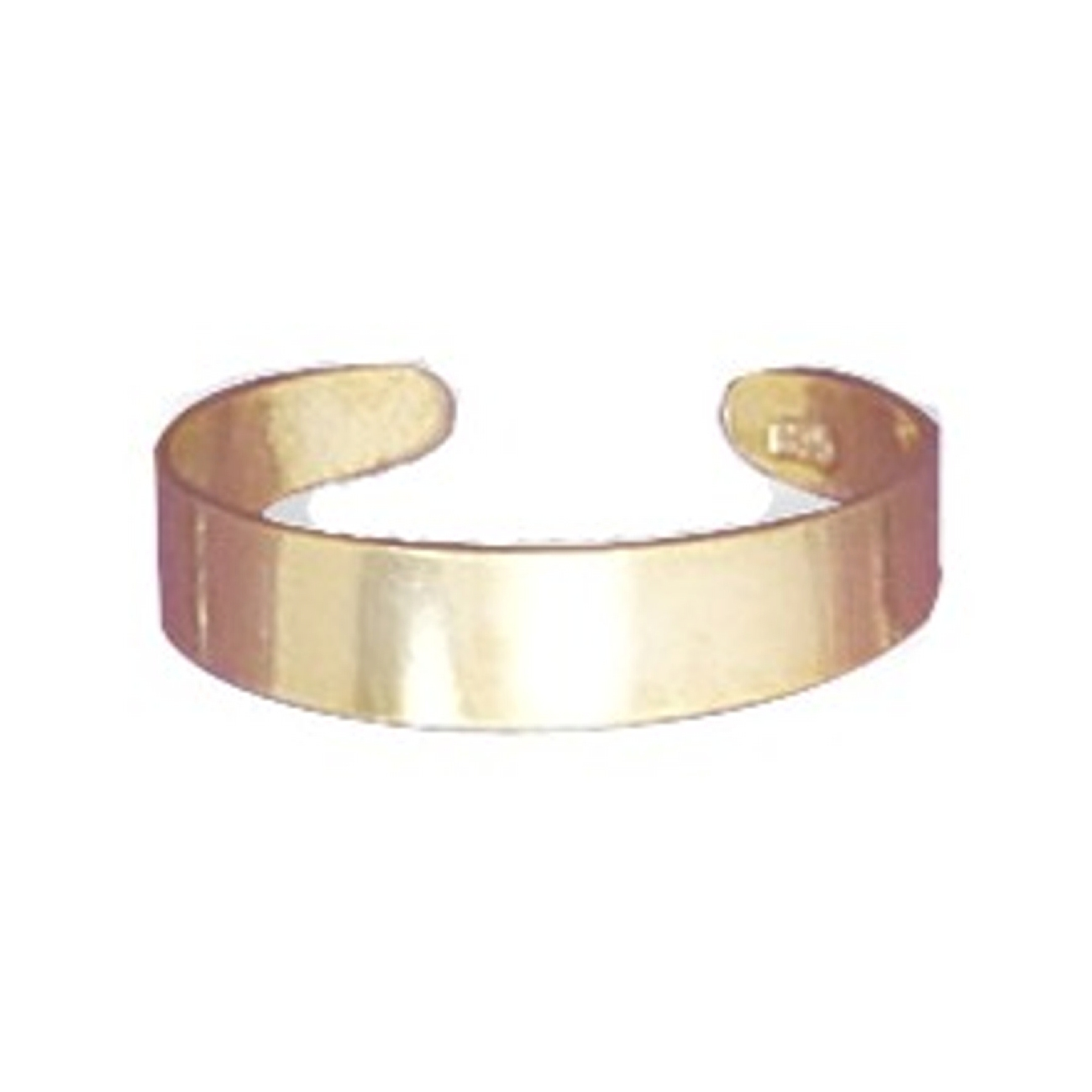 14kt Gold Plated 4mm Plain Band Adjustable Toe Ring