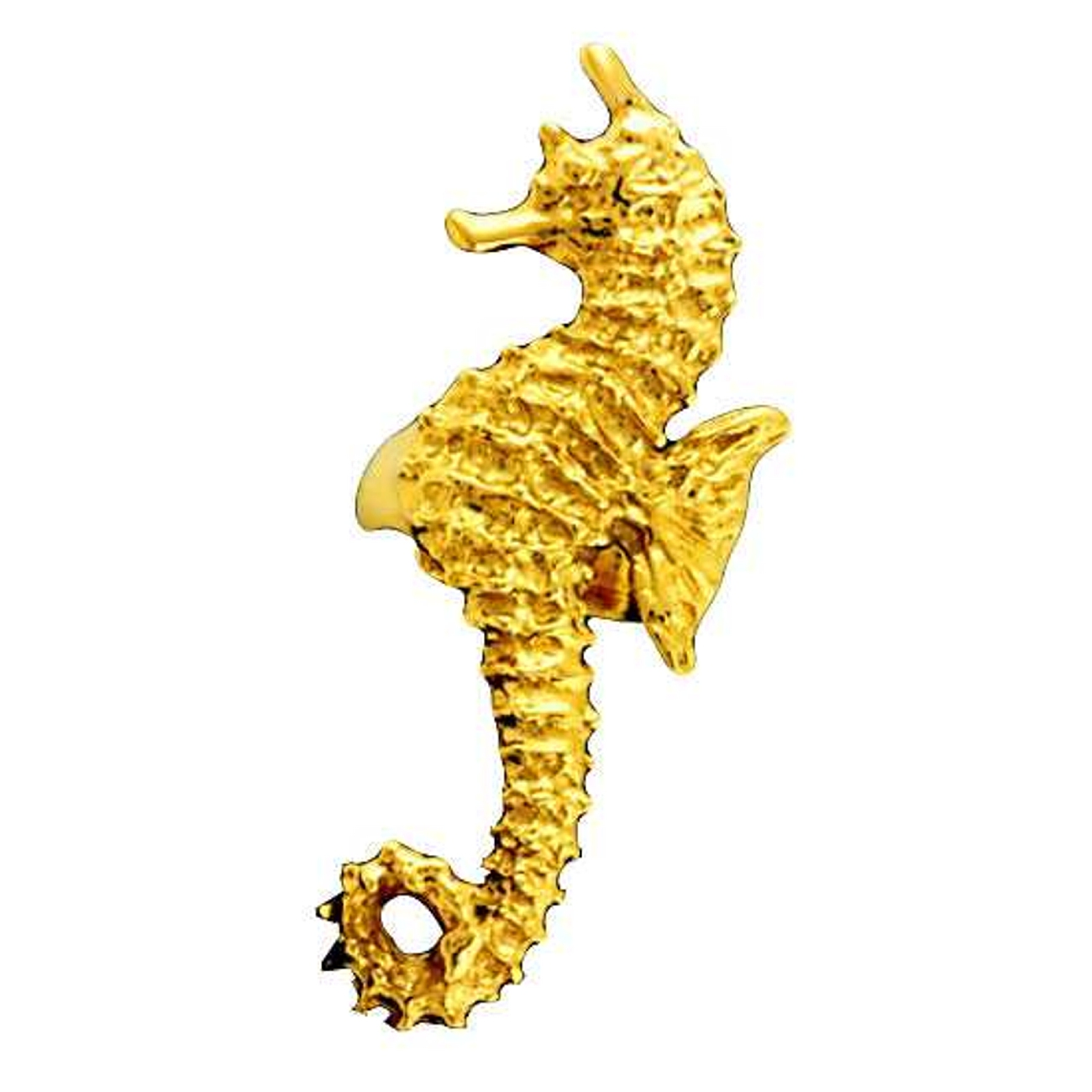 Gold Vermeil Left Only Ocean Sea Horse Ear Cuff