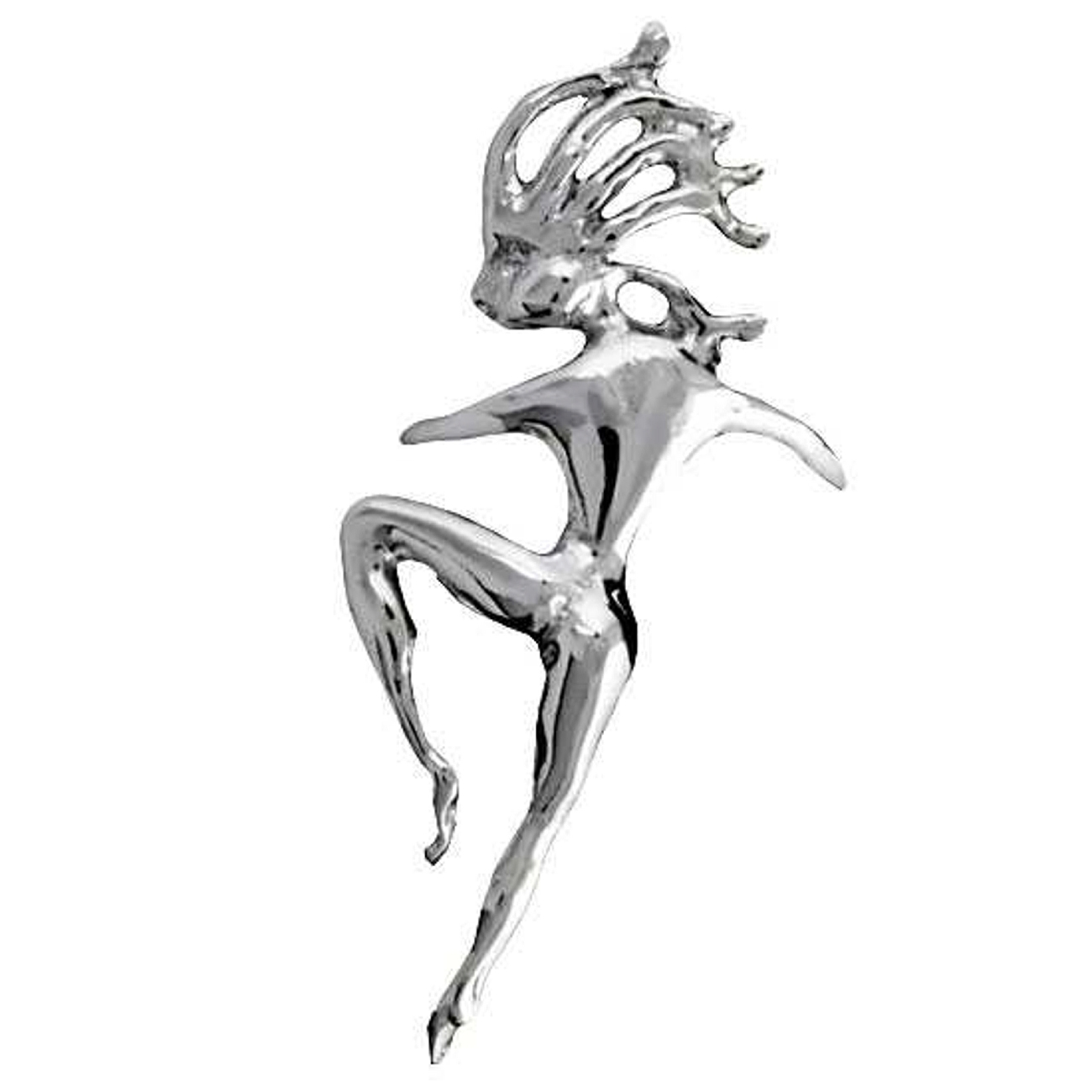 Left Only Pierceless Dancing Woman Ear Cuff