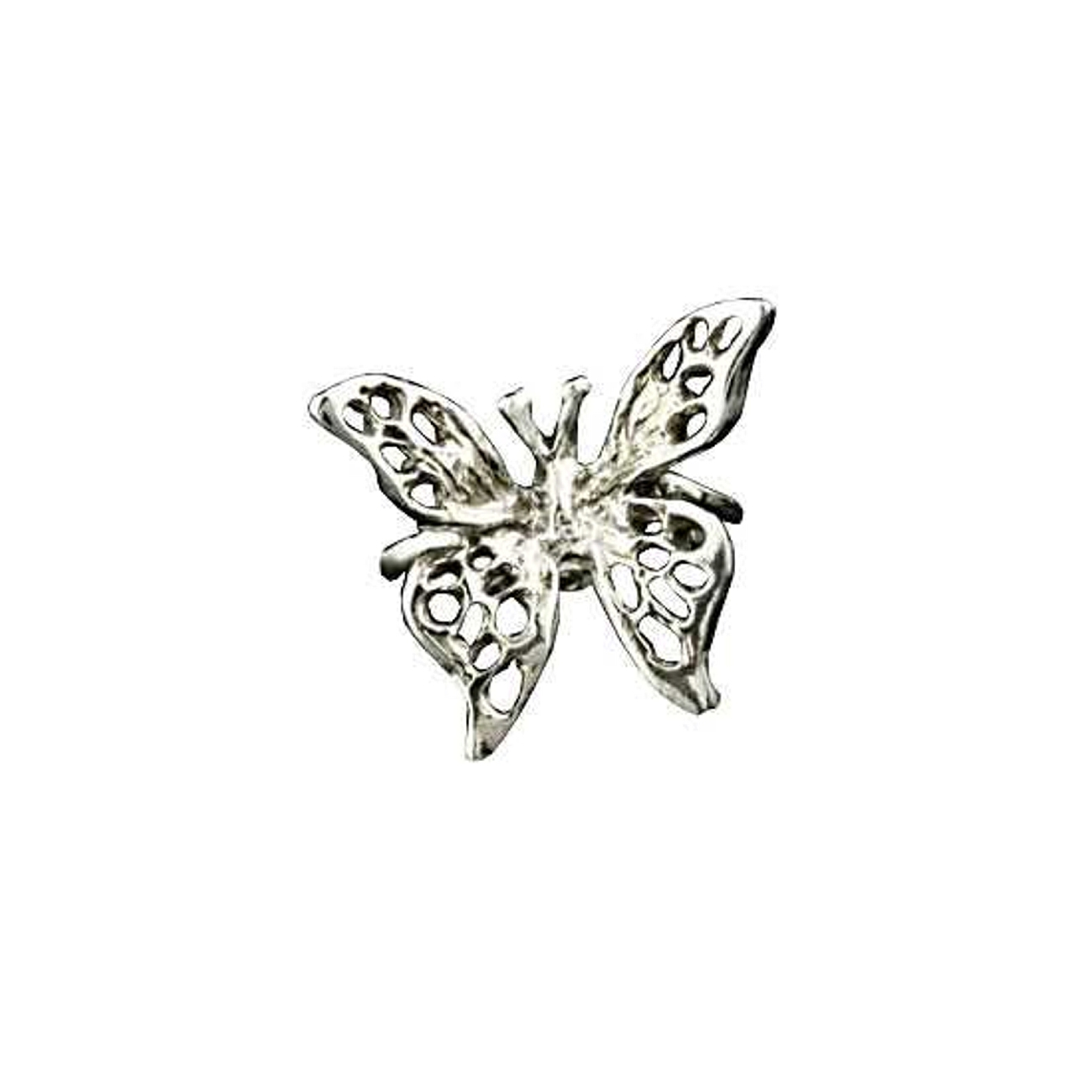 Right Only Pierceless 3D Open Butterfly Ear Cuff