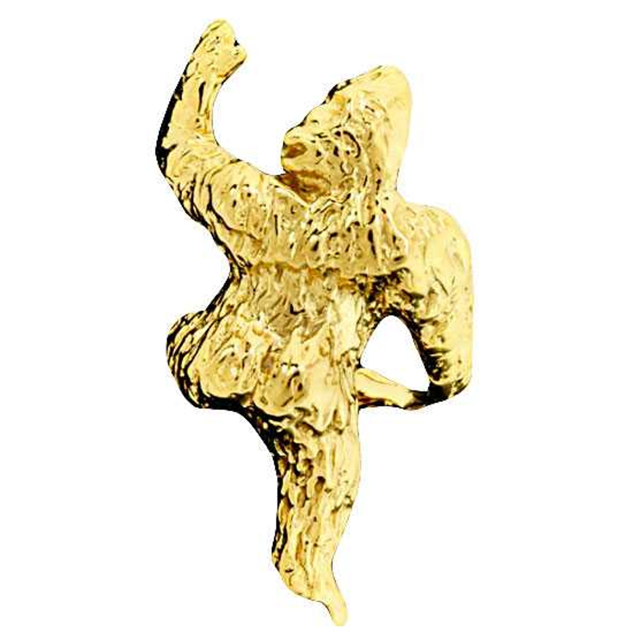 Left Only Gold Vermeil Pierceless Climbing Gorilla Ape Ear Cuff