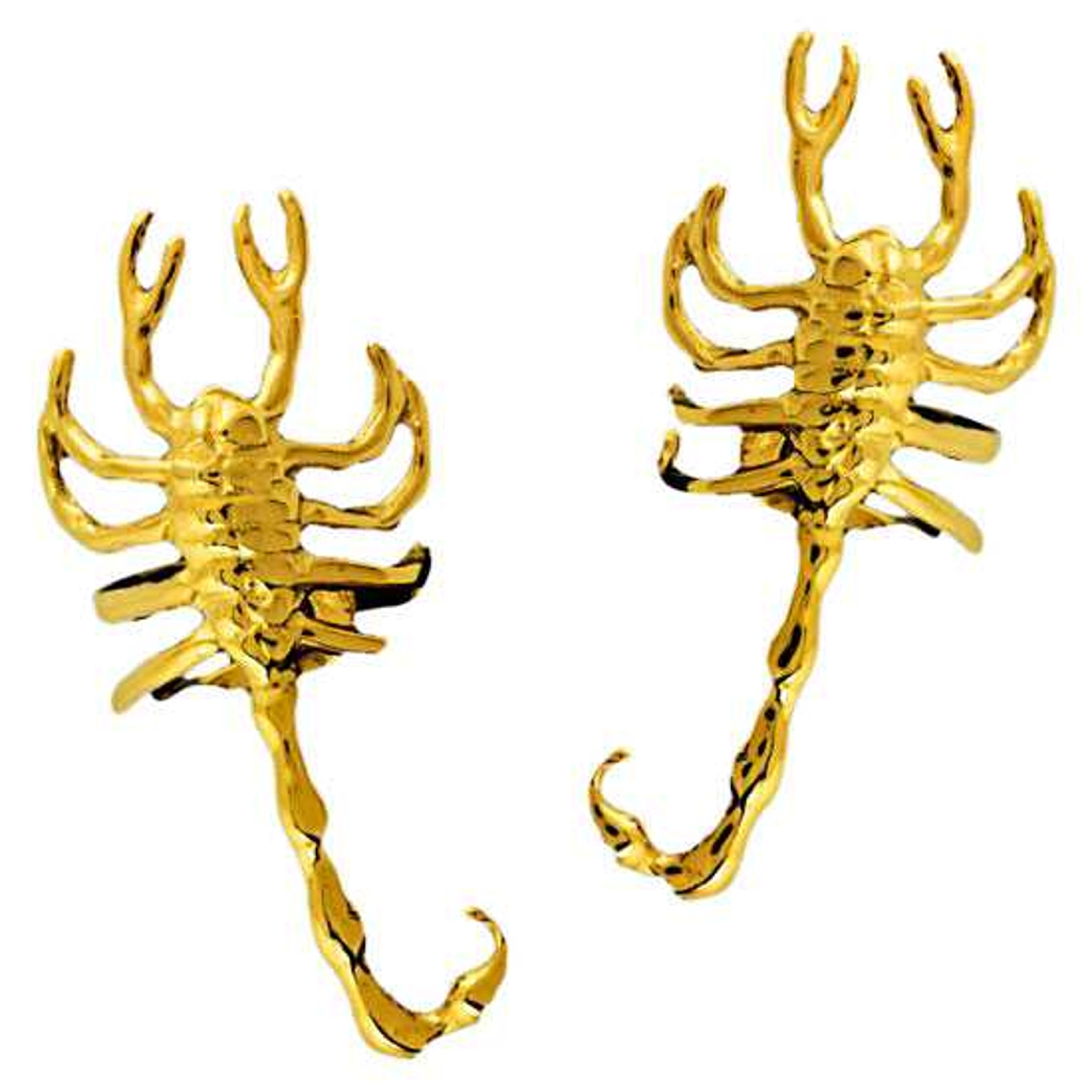 Gold Vermeil Left And Right Scorpion Ear Cuff Set