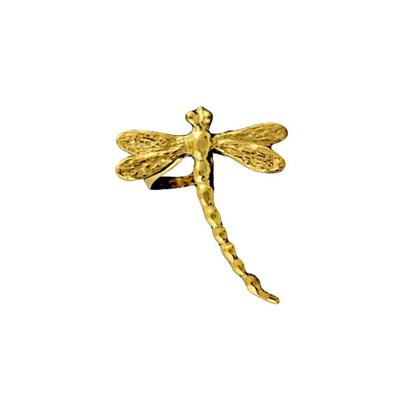 Gold Vermeil Right Only Small Dragonfly Ear Cuff