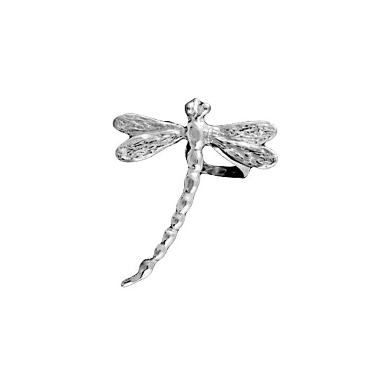 Pierceless Left Only Dragonfly Ear Cuff