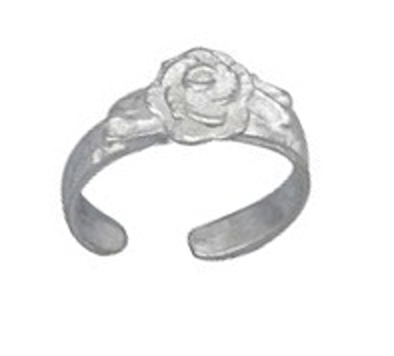 3D Blooming Rose Toe Ring