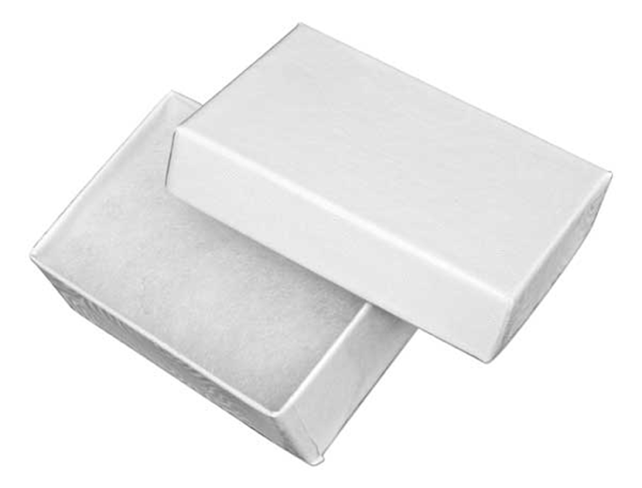 Small White Rectangle Cotton Filled Cardboard Jewelry Gift Box