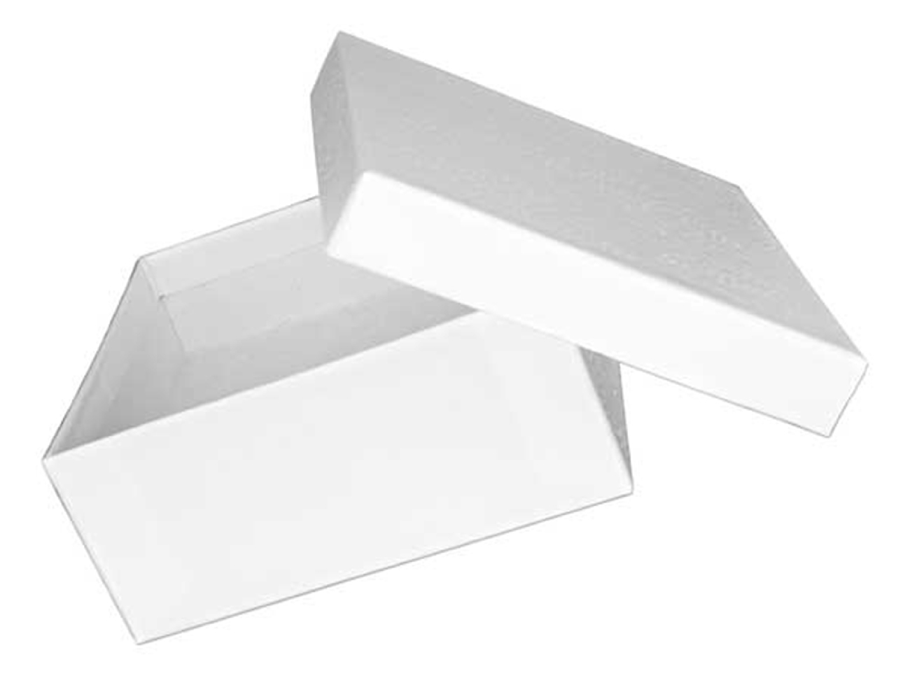 Medium Sized Square White Cotton Filled Cardboard Jewelry Gift Box