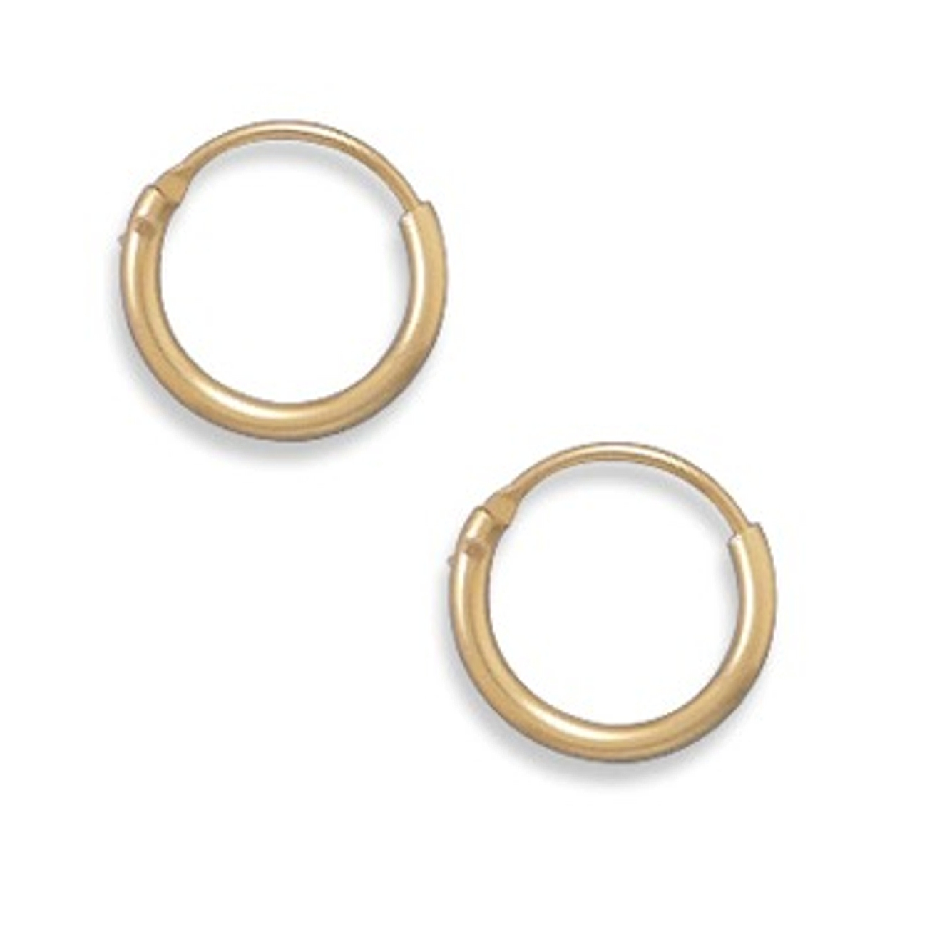 11mm Diameter 12/20 Gold Filled Endless Hoop Earrings