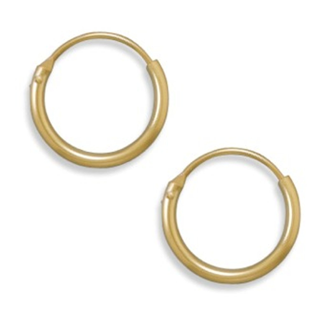 13mm Diameter 12/20 Gold Filled Endless Hoop Earrings