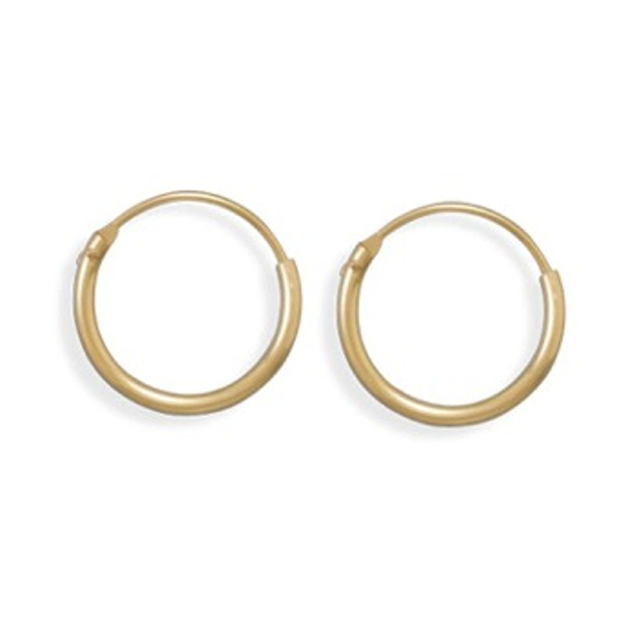 15mm Diameter 12/20 Gold Filled Endless Hoop Earrings