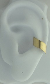 Left Or Right Nonpiercing Chevron Plain Band Ear Cuff