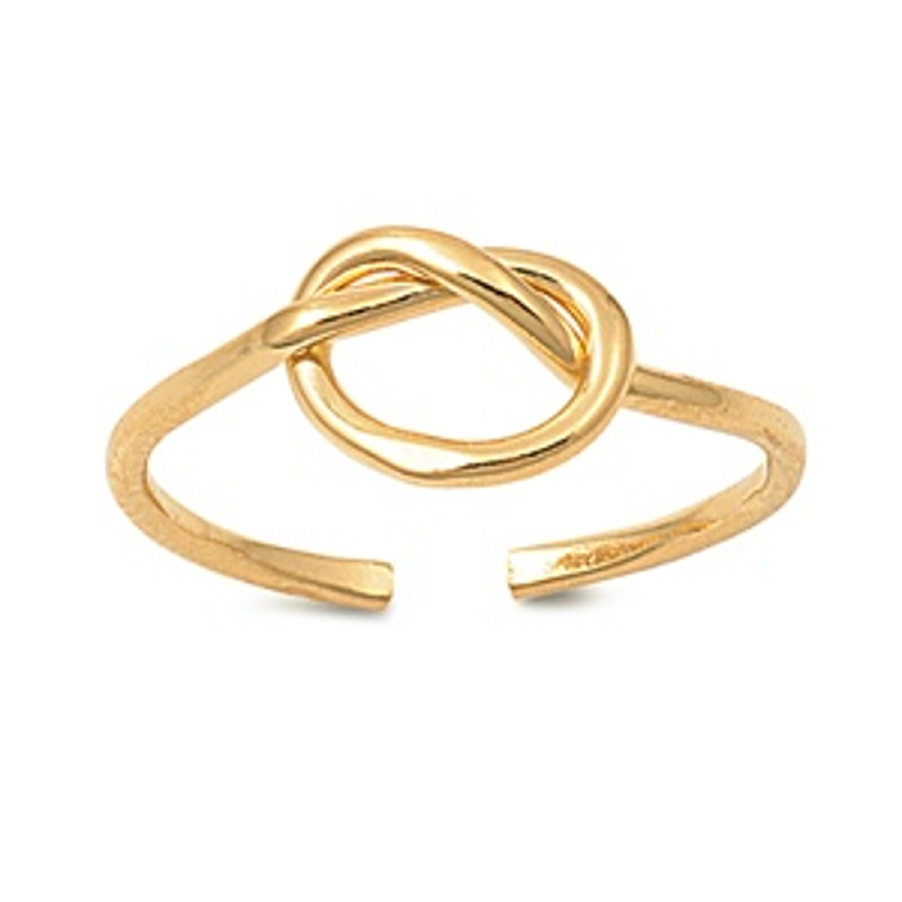 Adjustable Gold Vermeil Love Knot Wire Toe Ring