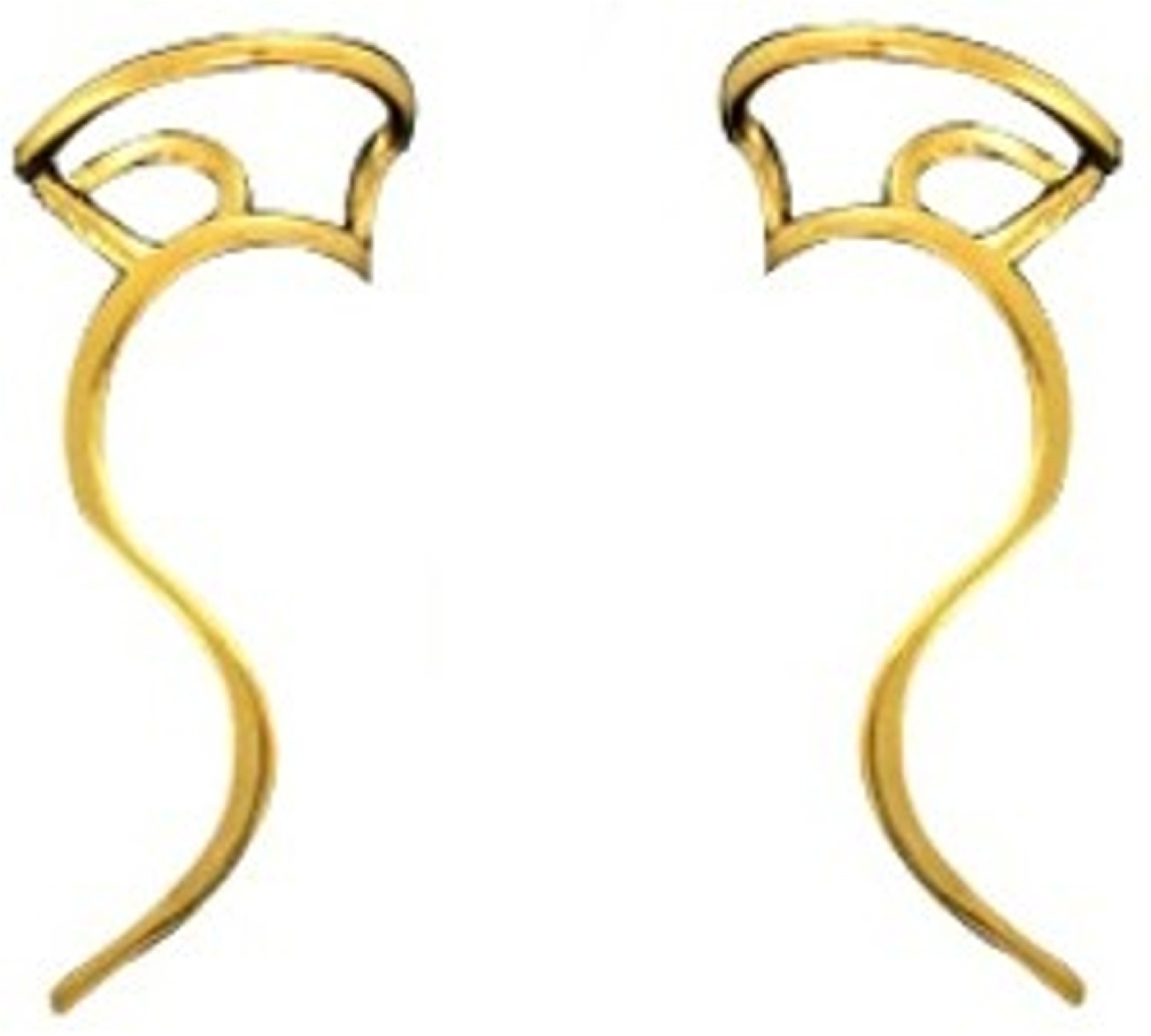 Right Only Gold Vermeil Dainty Rolling Curves Ear Cuff