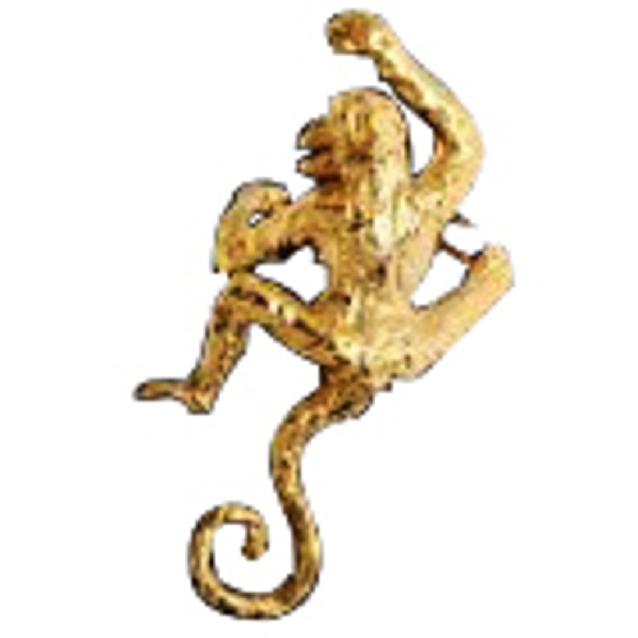 Left Only Gold Vermeil Pierceless Climbing Monkey Ear Cuff