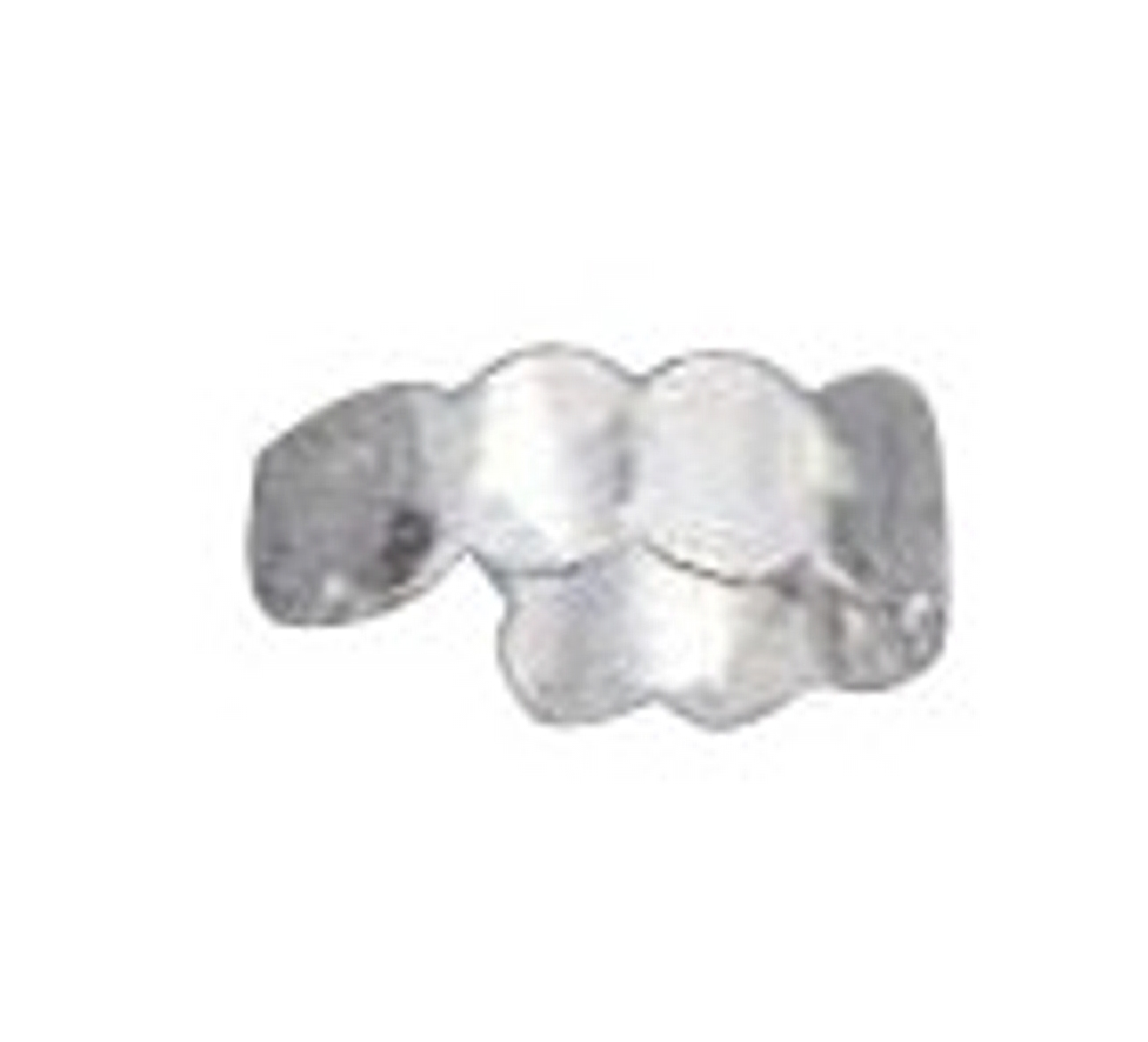 Adjustable 5mm Scallaped Pounded Hammered Toe Ring