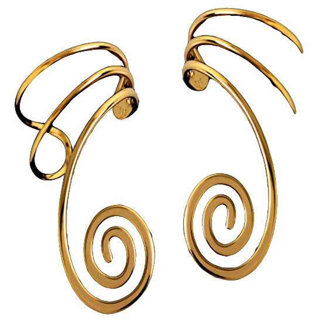 14kt Gold Vermeil Spiral Wire Ear Cuff Wrap Set