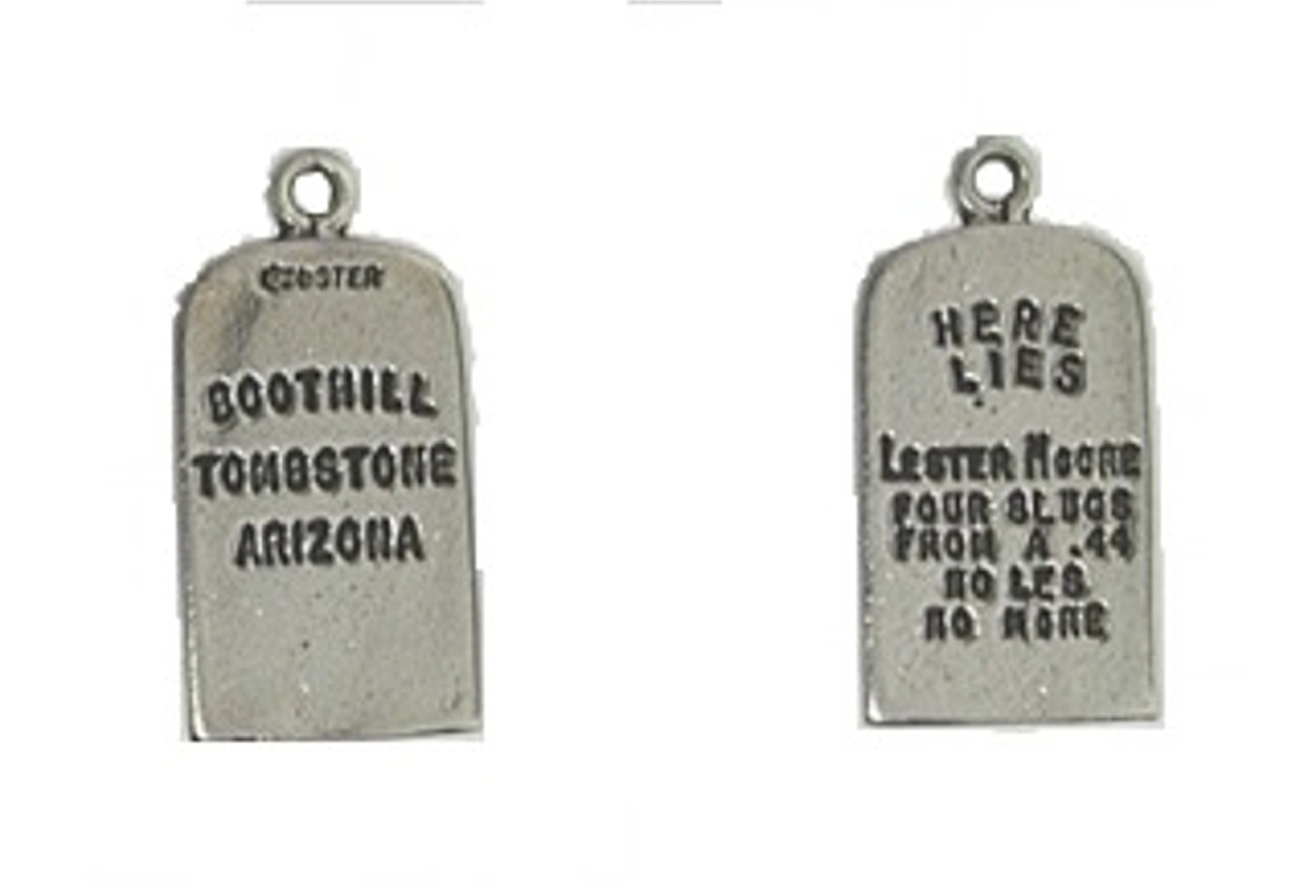 3D Lester Moore Tombstone Charm