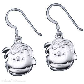 Unique Peanuts Linus Van Pelt French Wire Earrings