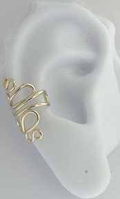 Left Or Right Gold Filled Nonpiercing Squiggle Ear Cuff
